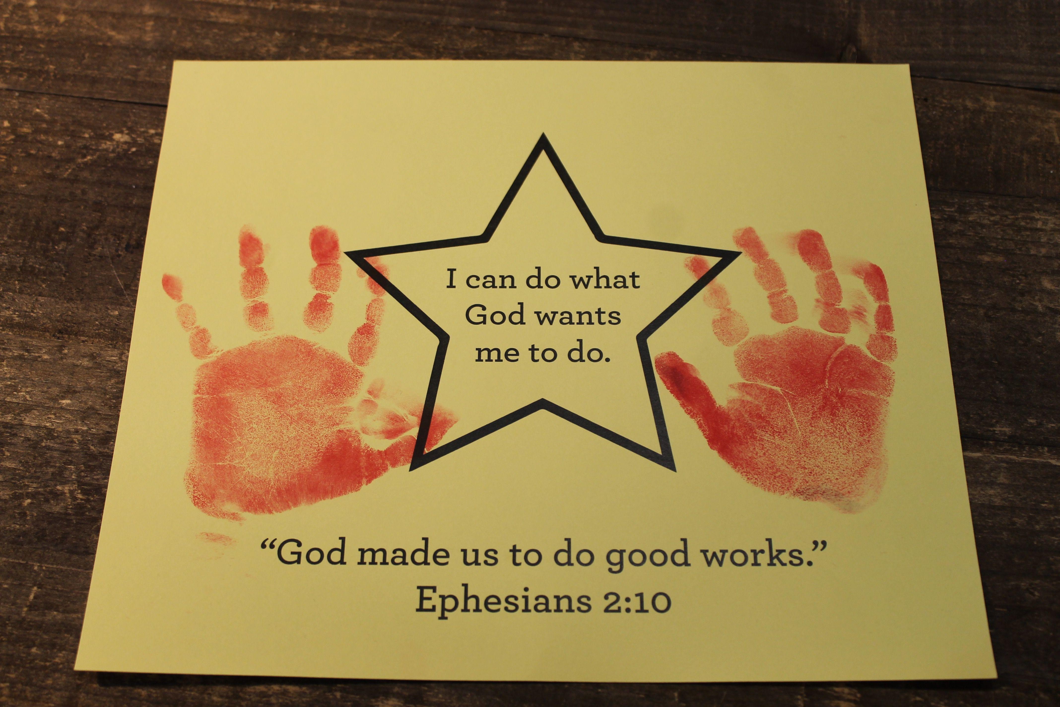 Sample Craft For June 3s 5s Week 1 Handprint Star