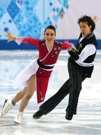 ソチ五輪に出場したフィギュアスケート・アイスダンスのキャシー・リード、クリス・リード姉弟
