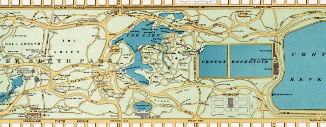 Hinrichs' guide #map to #CentralPark #NYC (1875)