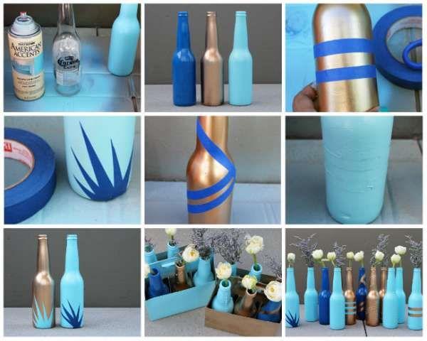 14 Idées de décorations stylées avec de la peinture en bombe Craft - bombe de peinture aluminium