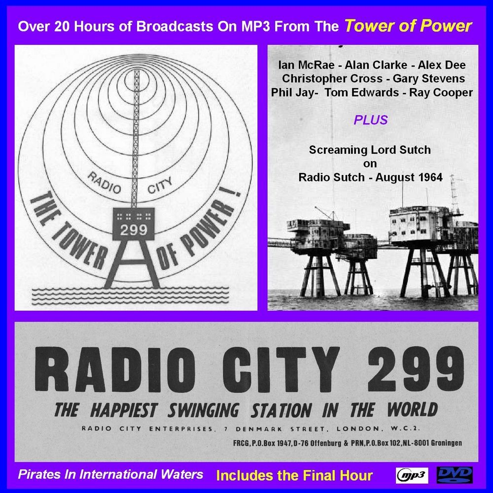Pirate Radio - Pirate RADIO CITY MP3's Over 20 Hours on MP3 DVD Disc