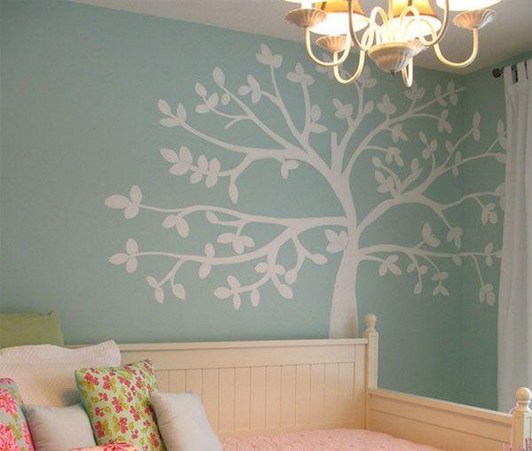 Murales infantiles de rboles decoraci n de la habitaci n for Murales habitacion bebe