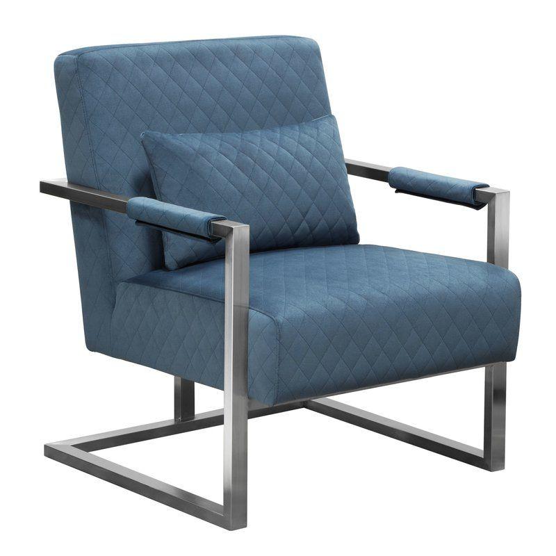 Tyndalls Park Velvet Armchair With Price : $ 356.99