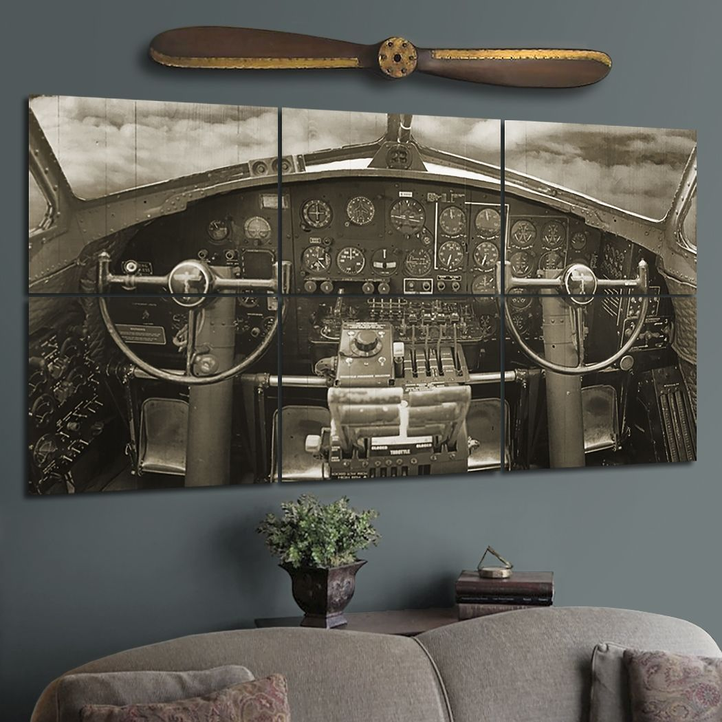 Best Giant Wood B 17 Cockpit Wall Mural In 2019 Airplane 400 x 300