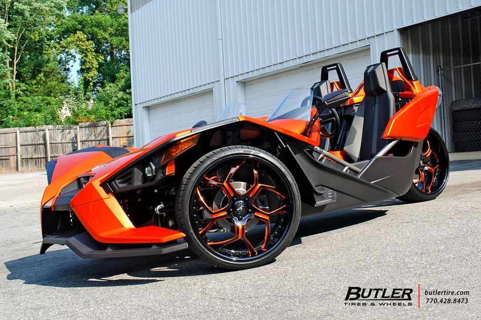 Polaris Slingshot On Custom 22in Savini Sv53 Wheels Butlertire