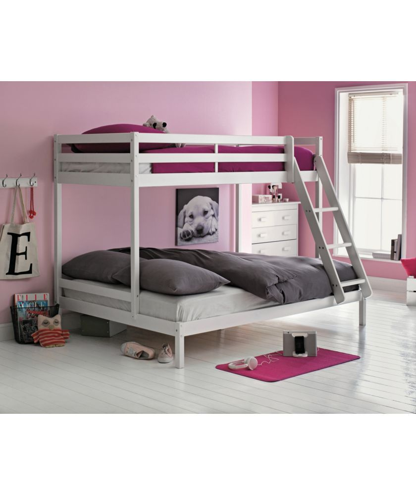 buy single and double bunk bed frame - white at argos.co.uk - your