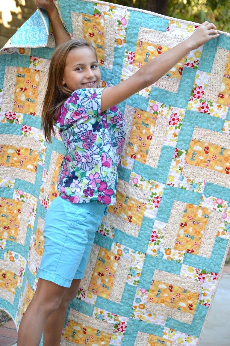 whole n quilts flower girls by quilting piece girl bonner natalia quilt machine