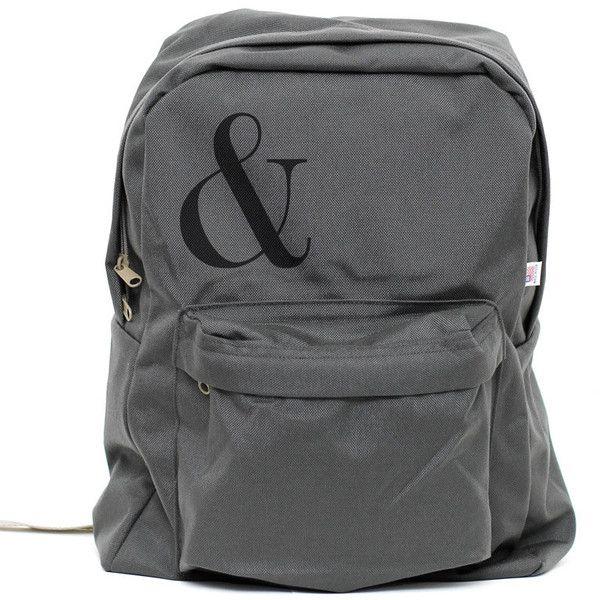 Backpack: Ampersand, Rucksack, Nylon Backpack, Laptop Backpack,... ($45) ❤ liked on Polyvore