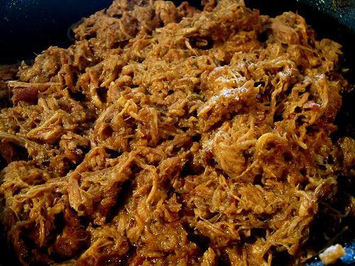 Mmm...  memories of Egg in Brooklyn. Dry rubbed crock pot pulled pork