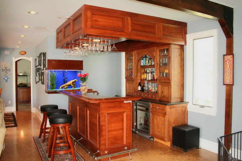 wine bar with refrigerator and ornamental aquarium man caves pinterest wine bars. Black Bedroom Furniture Sets. Home Design Ideas