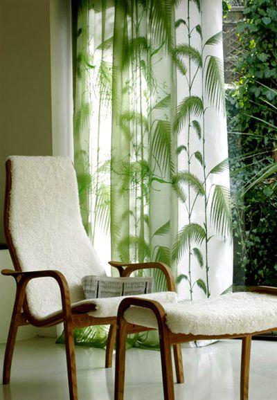 3 Palm Tree Curtains