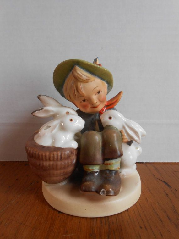 1950s Hummel Playmates Boy with 3 Bunny by ...