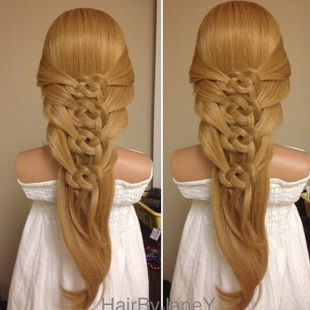 french celtic knots hair