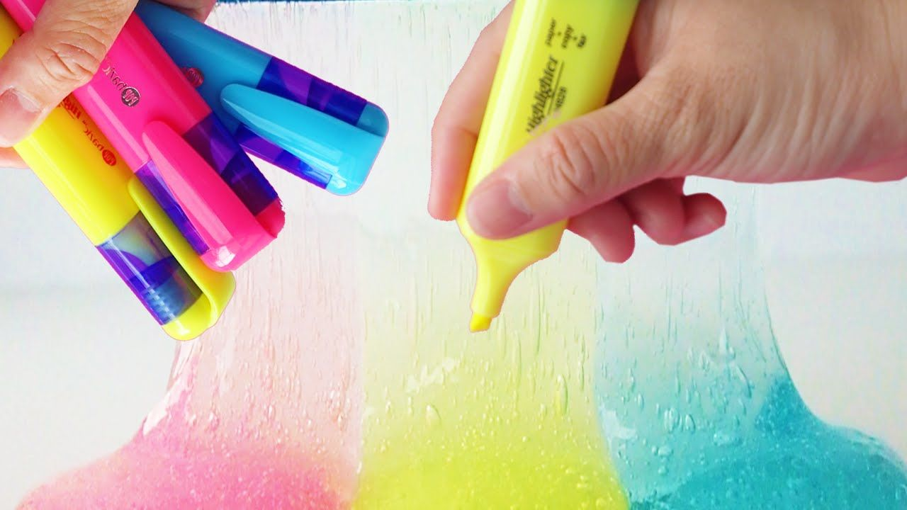 How to make slime with highlighter diy slime no borax or liquid how to make slime with highlighter diy slime no borax or liquid starch b ccuart Image collections
