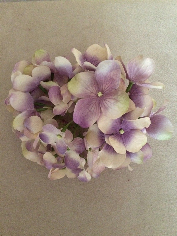 Medium Hydrangea Artificial Flower Hair Clippin Brooch Pink Cream
