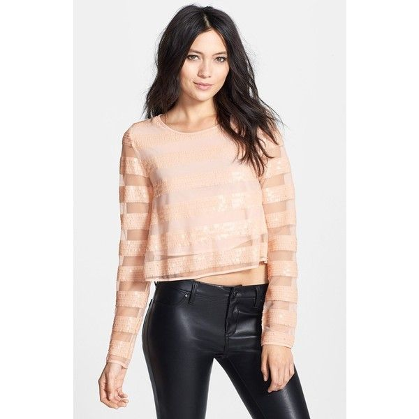 809fe34bc38 MINKPINK  Eyes on the Prize  Sequin Stripe Top (98855 IQD) ❤ liked ...