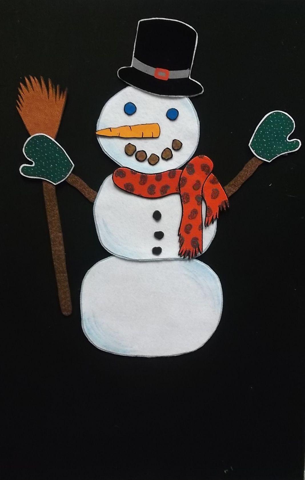 Snowman From One Snowy Day By Jeffrey Scherer