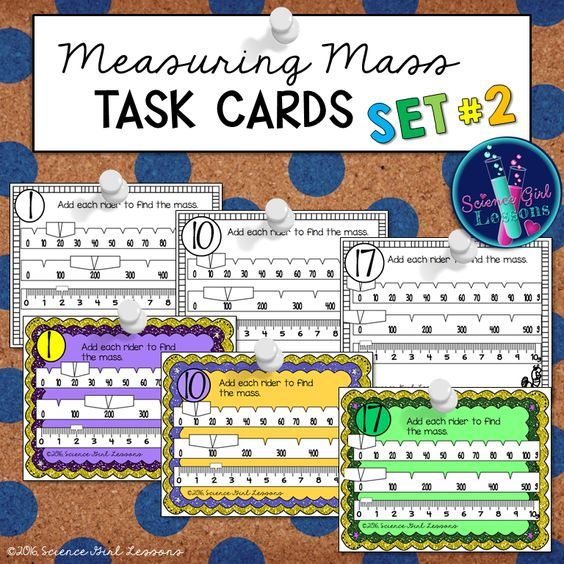 Measuring Mass Task Cards Set 2 Reading A Triple Beam Balance