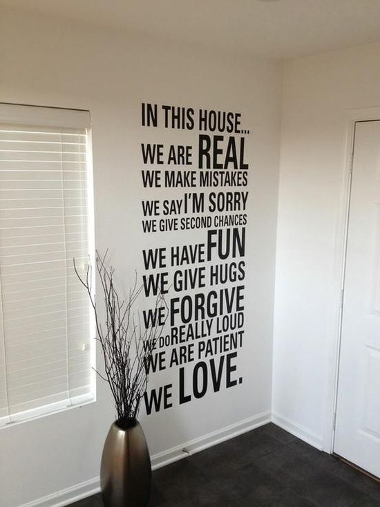 Typo Ideas Text On The Wall Letter Wall Wall Decals House Rules