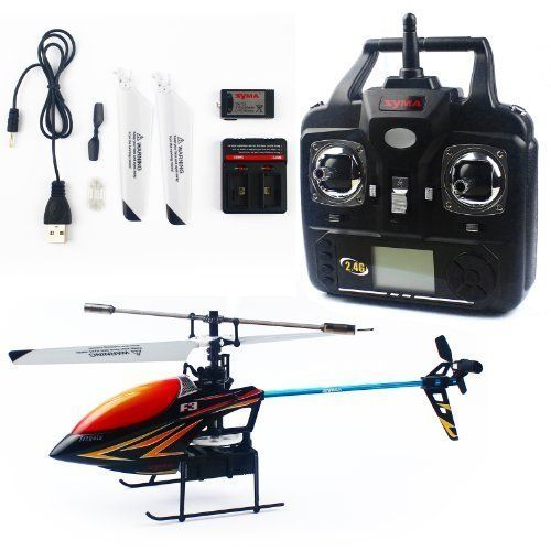 Syma F3 2.4g 4ch LCD Remote Control Rc Single Rotor Helicopter - Colors Vary by Syma