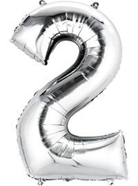 silver number balloons party city