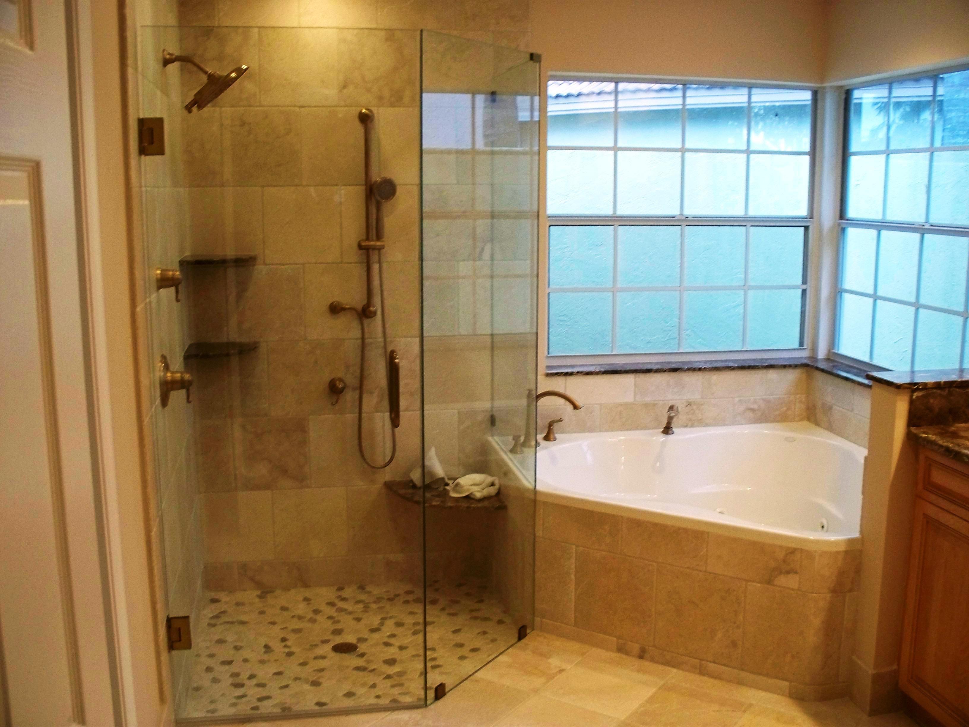 Corner Bathtub Shower Combo Ideas In 2020 Jet Tub Shower Combo