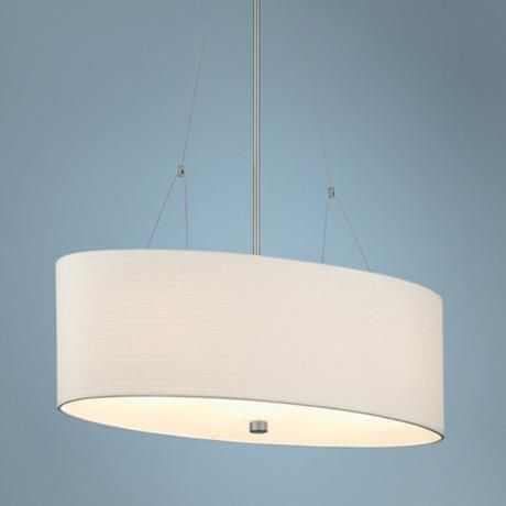 Philips Alexis 3 Light Satin Nickel Oval Pendant