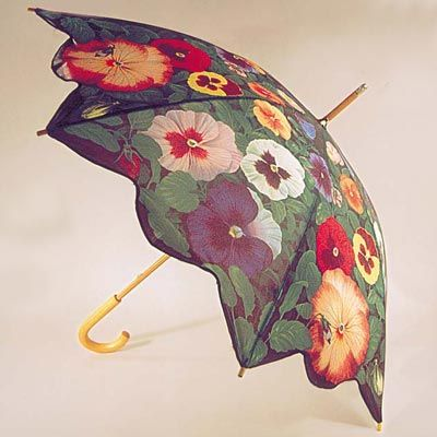 Pansy Print Umbrella