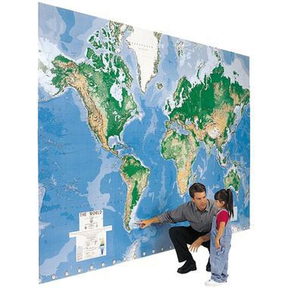 sky mall world map World S Largest Write On Map World Map Skymall Com Map