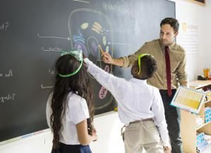 Science Teacher Explaining Diagram to Students - Cavan Images/Digital Vision/Getty Images