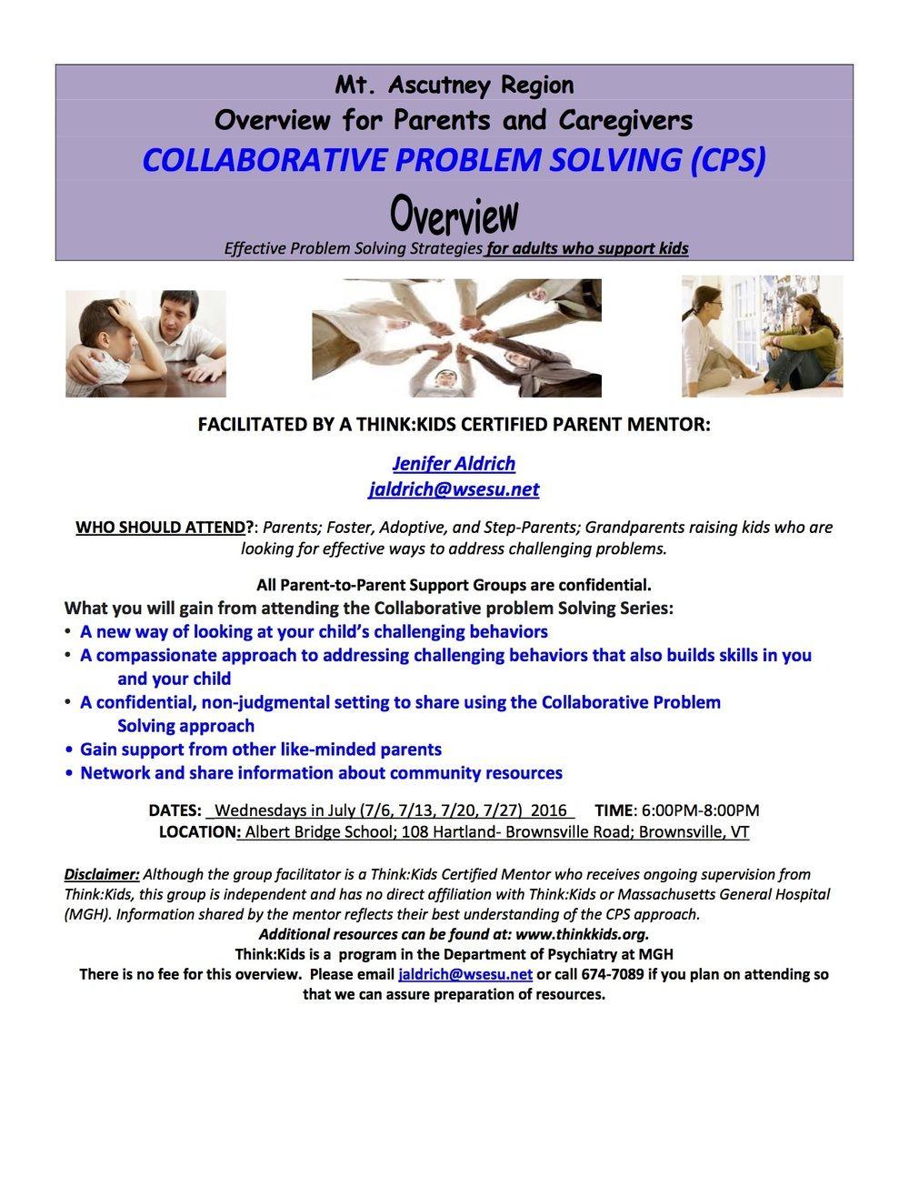 Collaborative Problem Solving Parent Mentoring Group