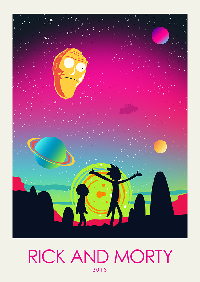 Minimalist Poster Rick And Morty Poster Print Movie Print Tv Poster Film Poster Art Print Home Deco Rick And Morty Poster Rick And Morty Film Posters Art