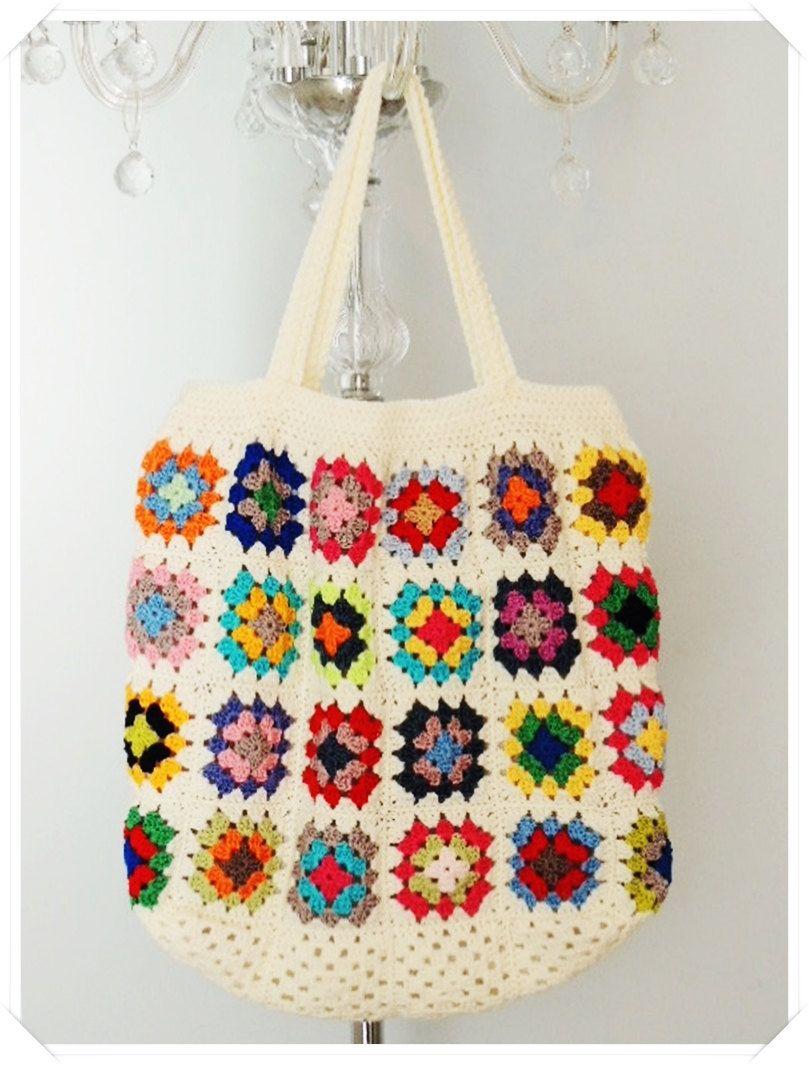 Summer Tote Bag Camper Van Tote Retro Tote Bag Craft Bag Reusable Bag Boho Tote  Bag Handmade Bag Gift For Her Market Bag