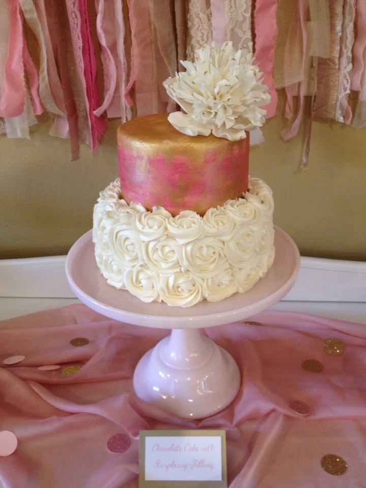 Pink Gold 50th Birthday Cake Party Party In 2018 Pinterest