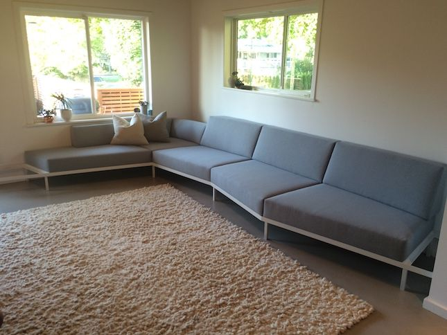 Latex Iceberg cushions for a rockin' carpentry lady and a local Architect's personal home.