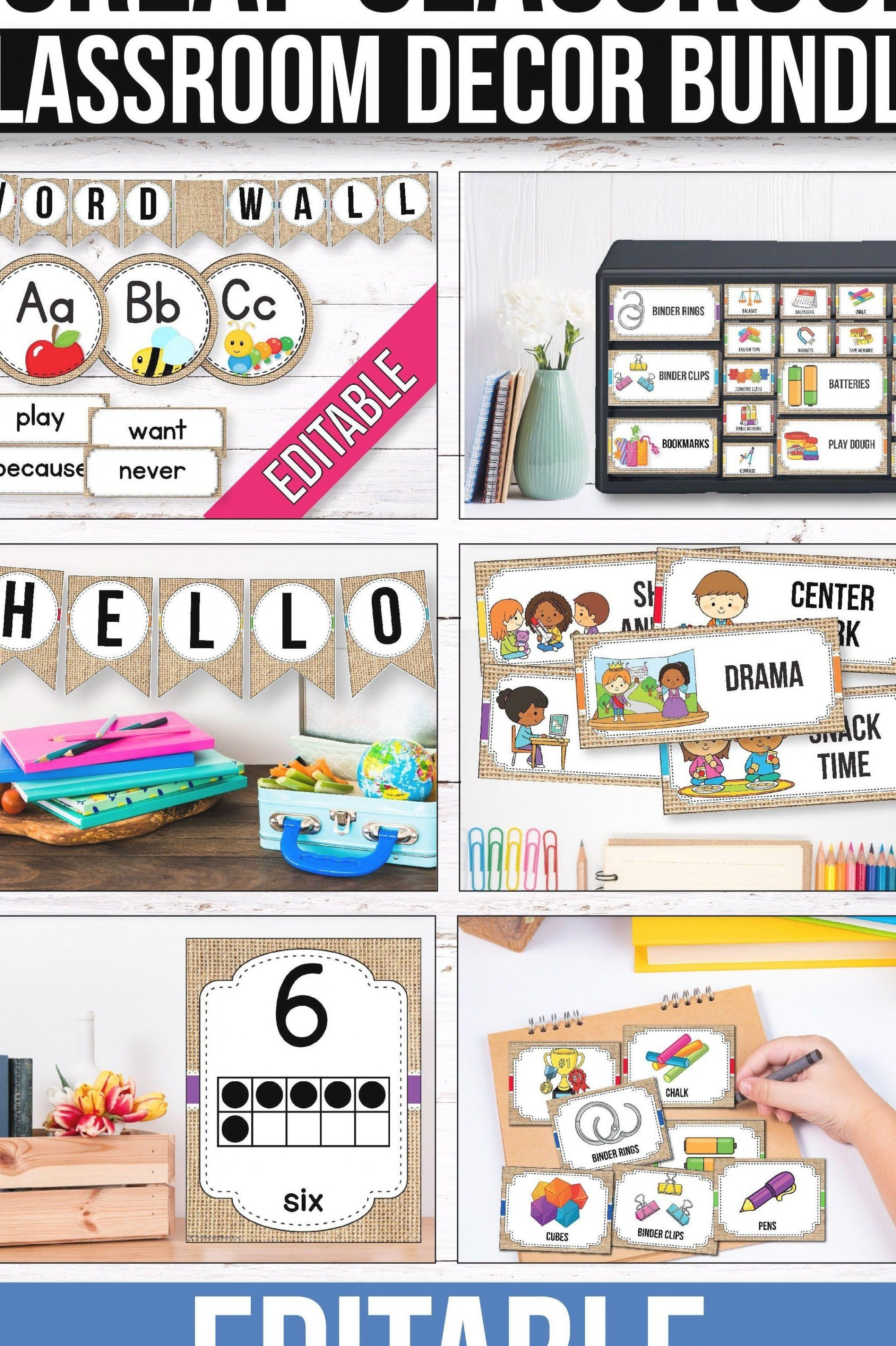 Looking for burlap classroom decor theme and decoration ideas  These beautifu…