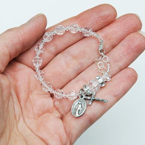 Baptism Gift for Baby Girl - All Clear Swarovski Crystal ...
