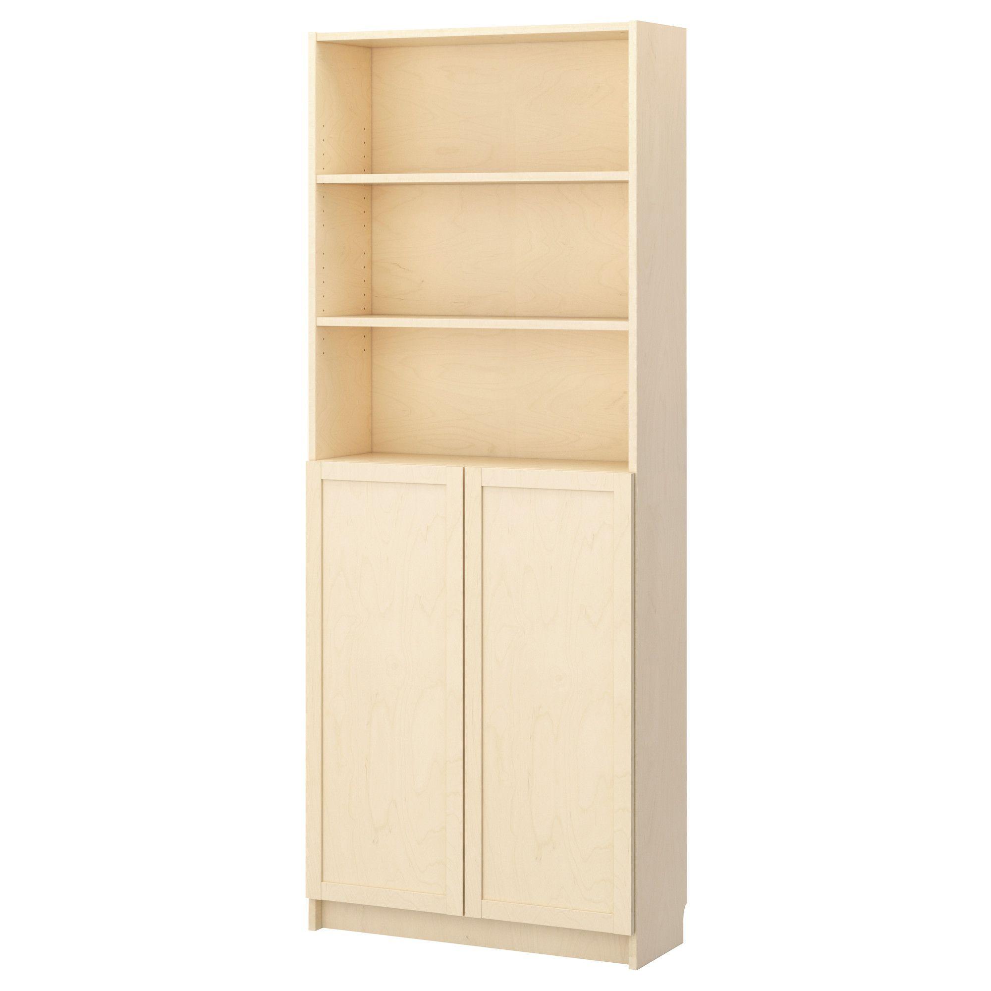 billy biblioth que avec portes plaqu bouleau ikea couloir entr e pinterest bouleau. Black Bedroom Furniture Sets. Home Design Ideas