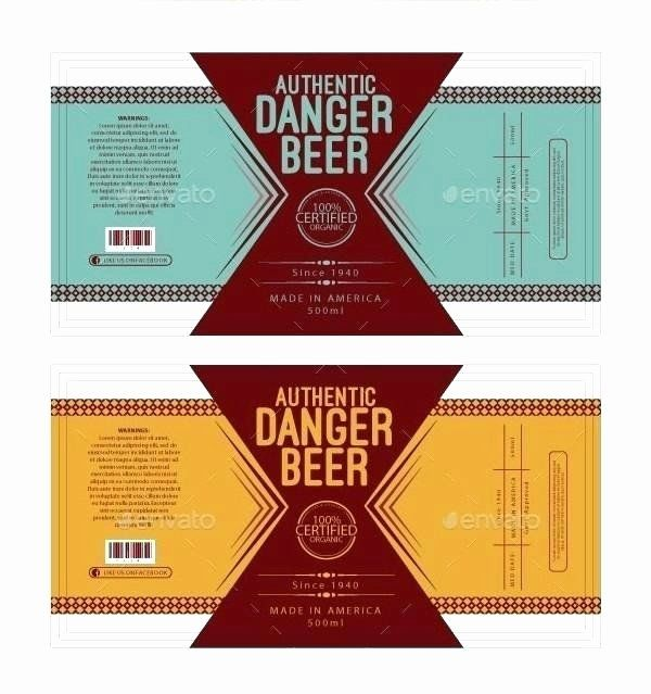Beer Label Template Illustrator In 2020
