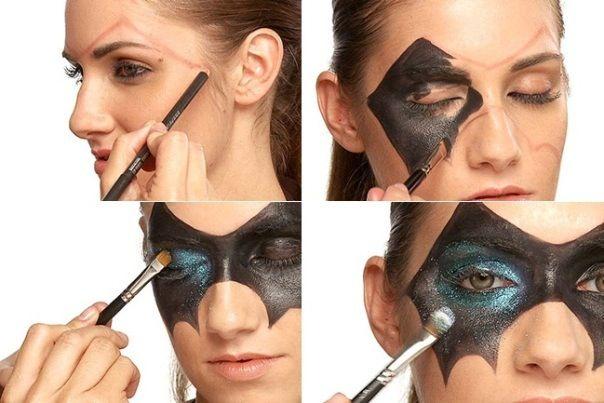 Batman mask makeup Halloween ideas Pinterest Mask makeup - scary diy halloween costumes