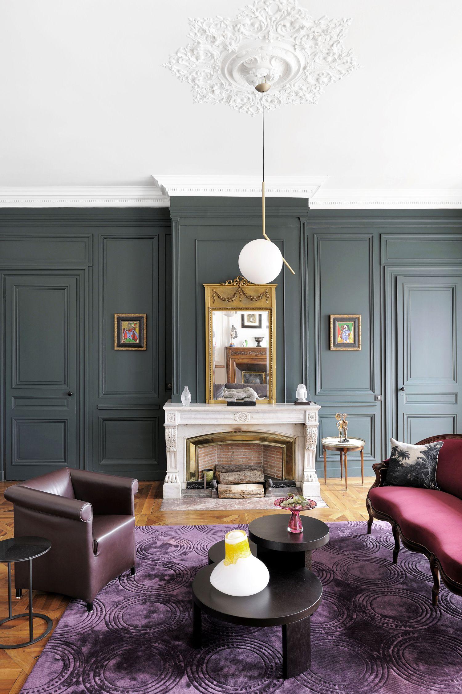 Un salon somptueux  Decoration mur salon, Décoration maison, Déco