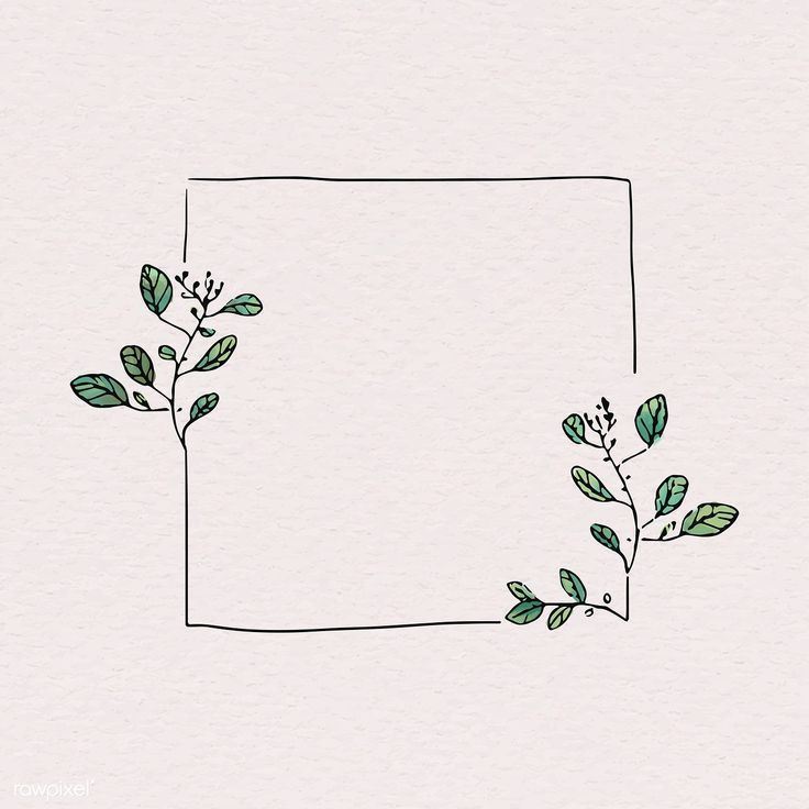 Doodle square floral frame vector | Kostenloses Bild von rawpixel.com / Adj – #Doodle # … - E...