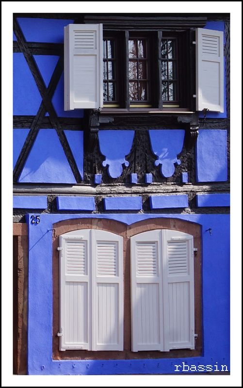 Windows in Selestat, Alsace_ East France
