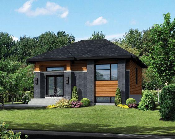 cette petite maison de plain pied de style urbain se