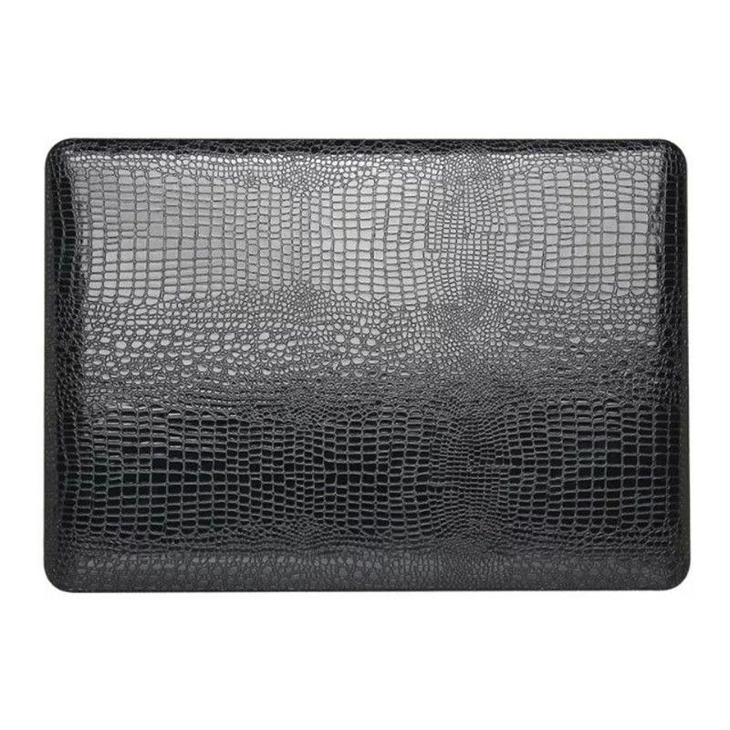 Black Crocodile Leather Hard Cover Case For Apple Macbook