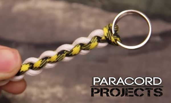Id Badge Paracord Lanyard With Breakaway Buckle And Keyring Name
