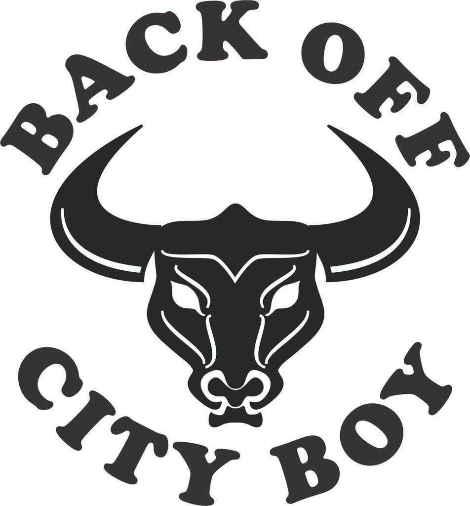 Back Off City Boy Vinyl Decal Boys Custom Vinyl And Stenciling - Custom vinyl decals for trucks
