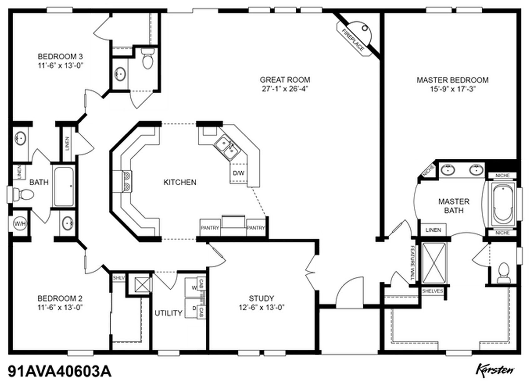 Clayton homes 91ava40603a with all the options house - Clayton homes terminator 4 bedroom ...