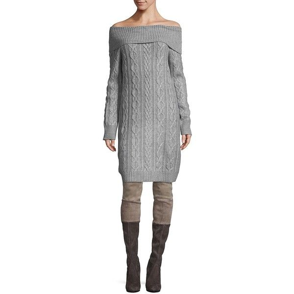 Eliza J Womens Cable Knit Sweater Dress 44 Liked On Polyvore