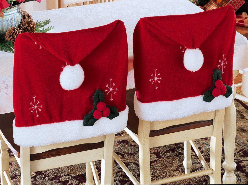Christmas Chair Covers Santa Christmas Holiday Chair Cover Pattern Christmas Chair Covers Christmas Chair Christmas Table Decorations